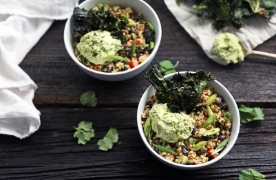 Day 15_Dinner_Chelsey Allen_Quinoa and Black Bean Bowl_photo cred Lynsey Walker