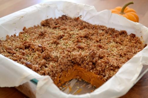 sweet potato crumble