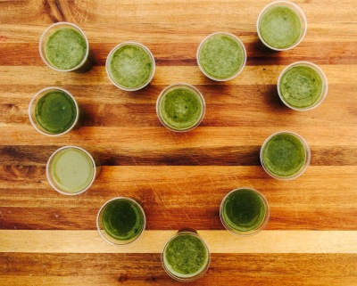 green juice heart